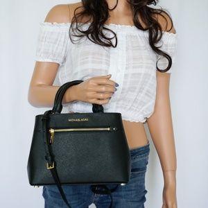 Michael Kors Hailee XS Satchel Leather Bag Black